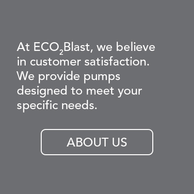 At ECO2Blast, we believe in customer satisfaction. We provide CO2 pumps designed to meet your specific needs.
